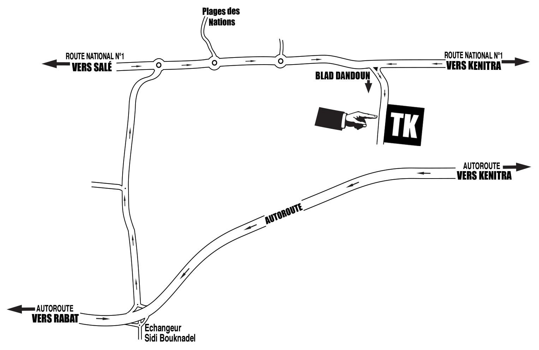 Plan d'accès Tk béton
